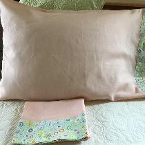 Pillow cases, lengthened a bit with decorative fabric hem, Perfect!