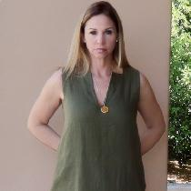 This Kaftan Maxi Dress is gorgeous in the Olive Branch 5.3oz linen!  The first time I wore it I...