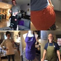 I make linen aprons! I love working with this fabric. These are a few I've made.