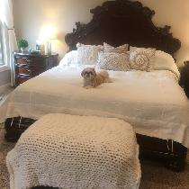 Heavy weight linen duvet with tie closure. So yummy, soft looking, and clean. Love the weight of...