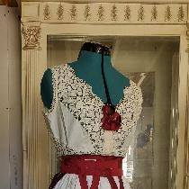 Created by me for an upcoming 1880s movie.  All pieces are hand done.  Pieces include corset cov...