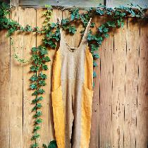 This ES inspired jumpsuit allows the colors of fall to float into the fleeting remnants of summe...