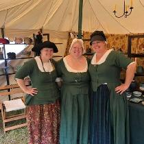 I love the Evergreen 5.3oz linen!! I've made so many 18th century dresses and jackets out of it....