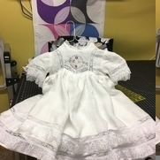 Linen and lace dress made for my granddaughter.