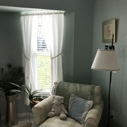 Simple, classic bedroom curtains