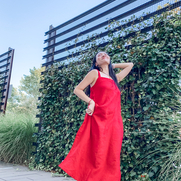 Enjoying the summer fearlessly and confidently with this red maxi dress❤️