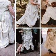 1890's Walking style skirt for wedding dress.  This was my first real sewing project assisted by...