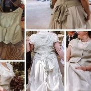 My first major project - Designed vest for wedding dress. Vest was designed by draping &  pi...