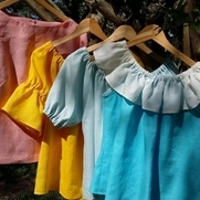 Fun and easy wearing colorful linen tops.  The styles are relaxed, will fit all body types and c...