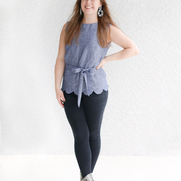 A new fall favorite of mine! I created this scallop edge sleeveless top using Butterick Pattern...