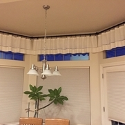 I used your IL090 softened bleached linen to create these curtains for my kitchen. I created han...