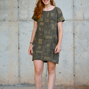 This dress by SewCo Patterns was crafted from linen dyed with fermented pomegranate skins, then...