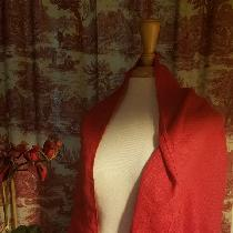 Perfect for Christmas - Poinsettia linen scarf!