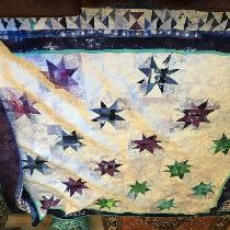 This is a wonky star block for a wedding quilt. Hand dyed at Dailyhanddyed.com. Stars from scrap...