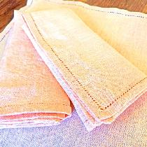 A fabrics store trifecta:  IL020 handkerchief linen, dyed per the instructions in the Thread for...