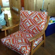 MCM modern chair recovered.