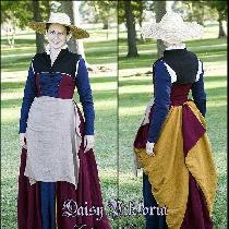 16th cen­tury Flem­ish working class gown. Smock, two partlets, kirtle, sleeves, apron, and cap...