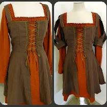 This is a Snow White and the Huntsman outfit, just different colors! The sleeves are detachable...