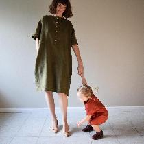Dresses made w Olive + Sedona middle weight. www.etsy.com/shop/shieldsdesignhouse