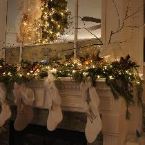 White linen stockings for my White Christmas!