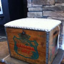 This is a Vintage Ginger Ale Crate Upscaled to a Storage Chest / Foot Stool using the IL002 Ivor...