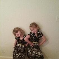 Christmas dresses for Lilian and Roselynn