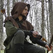 Medieval archer outfit, made with Potting Soil & Olive linen from fabric-store.com.  Some of our...