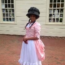 I made and wore this gown to Mount Vernon for their Colonial Market Fair in 2016. It is made fr...