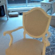 Anne Marie Cartier's Bella Chair- re-created with medium weight FS linen.