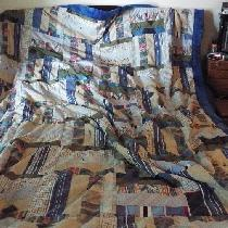 Doris, double bed size quilt I made for my gran...