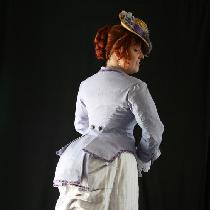 Karen, An 1880s day wear bustle gown