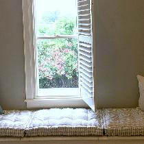 Darcy, French Mattress Quilted Window Seat Cush...