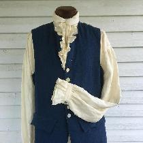 This is a 100% linen, mid-18th century shirt and waistcoat ensemble. Both are machine sewn. The...
