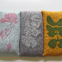 Block-printed lavender eyepillows using medium-weight linen. Eyepillows are filled with a mix of...