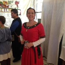 12th century linen dress. Underdress and dress are 100% linen. Handmade embroidery. My first rea...