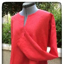 Tunic in Firecracker Red