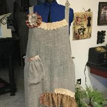 Wendy, A little apron made with open weave line...