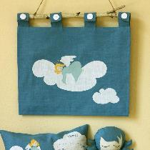 Heavenly set out of Blue Heaven color of gorgeous shade of linen. There are wall hanger with sle...