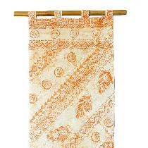 lesley, Hand printed linen wall hanging using bl...