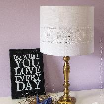 This lampshade is worked in traditional-style Hardanger embroidery, using linen thread on linen...