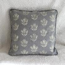 This is an 18x18 inch pillow using Fabics Store medium weight Drizzle. The design is my own whic...