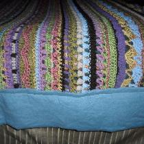 I needed a straight edge on this crocheted Sampler Stitch afghan I made and blocking didn't do t...