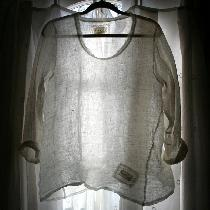 Linen 'Sara' Shirt. Made with IL030 100% Linen Gauze Gorgeous Sheer layering piece with twisted...
