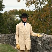 This unlined linen paletot (coat) was made using period techniques from the 1860's, and was draf...
