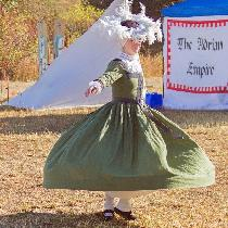 The Flying Frau!  16th century German KampFrau gown, Hemdt, Wusthaub, and Tellerbarret. All made...