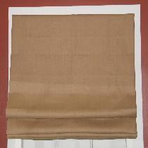 This flat roman shade was created from multipurpose linen in ginger in my studio in Peekskill, N...
