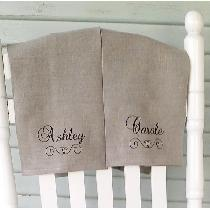 Blue Cottage Creations will also carry ink stamped tea towels made out of the natural softened I...