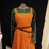 100% linen viking reenactment dress