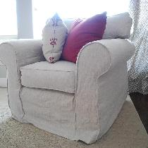 Katie, I slipcovered my family room couch and t...