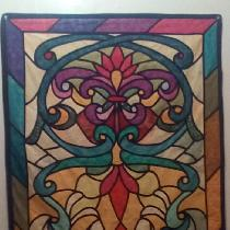 Judy, Church stained glass....batiks